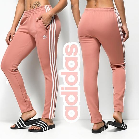 adidas original 3 Stripe Pink Track Pants women XL